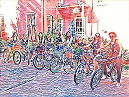 Arts District Bikes Riding Out With Friends