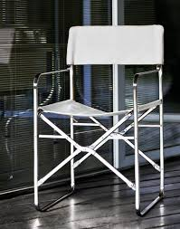 ZANOTTA - Folding Chair For Interiors And Outdoor In Stainless Steel,  Covered In Leather. -