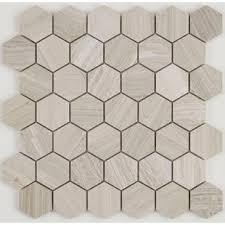 Oxford 13 X Limestone Mosaic Tile In Chenille White