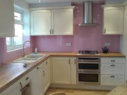 HOT PINK Glass Splashbacks These Incorporate Cut Outs For Electrical Sockets Coloured Reveal Upstands And Window Sill All