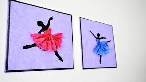 1024 X Auto Ballerina Hanging Wall Decor Diy Handmade Paper Craft Home Decoration
