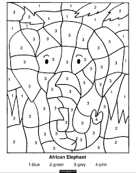 Rainy Day Coloring Pages For Toddlers Sheets Printable Color By Numbers Elephant Page Kids Full