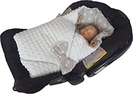 nid d ange siege auto blueberryshop minky reversible for car seat swaddle wrap blanket