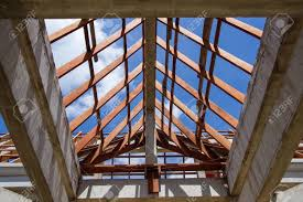 100 House Trusses Low Angle View Of Roof Trusses And Framing Wooden Of New House