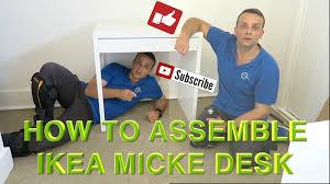 Ikea Computer Desk Workstation White Micke by Ikea Micke Desk Assembly Youtube
