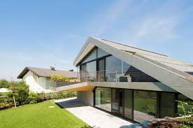 Pitched Roof House Designs Photo by Slope Roof House With Futuristic Interiors