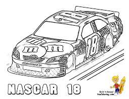 Nascar Coloring Pages Mega Sports Car Cars Free Inspirational