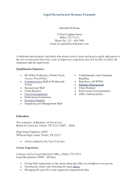 Resume Objective Extraordinary Receptionist Sample For Medical Objectives Examples General