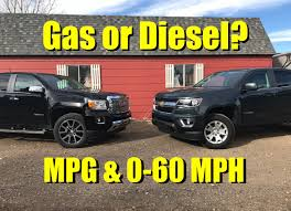 100 Best Pick Up Truck Mpg Gas Or Diesel 2017 Chevy Colorado V6 Vs GMC Canyon Diesel Towing