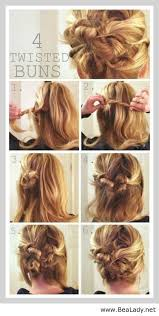 Diy Step By Hair Updo For Medium