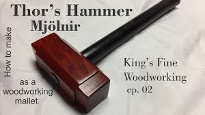 02 how to make thor u0027s hammer mjolnir as a woodworking mallet