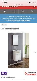 neu ovp waschtisch hochglanz waschbecken schrank spiegel bauhaus