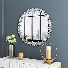 kohros großer wandspiegel im antiken stil verzierter glasrahmen venezianische dekoration spiegel für schlafzimmer badezimmer wohnzimmer 80 cm