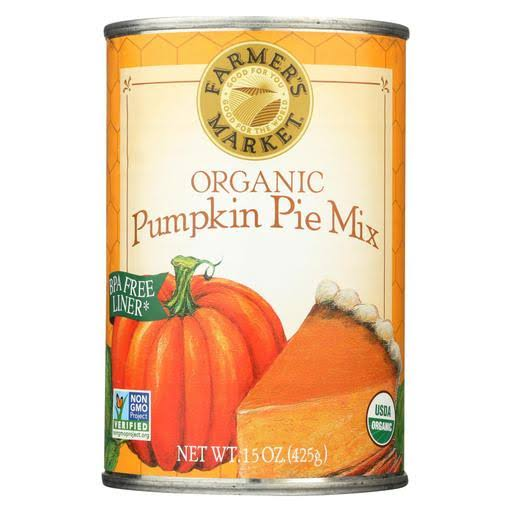 Farmer's Market Organic Canned Pumpkin Pie Mix