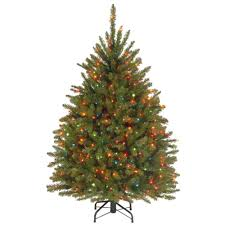 National Tree Company 45 Ft Dunhill Fir Artificial Christmas With Multicolor Lights