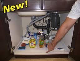 driptite slide n fit under sink pan cabinet base protector