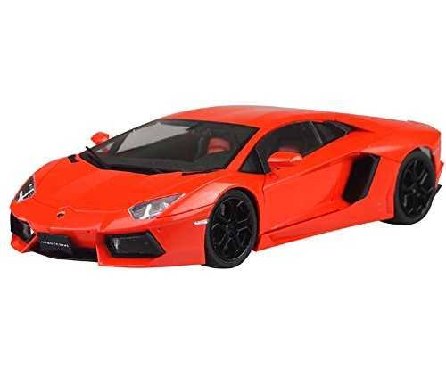 Aoshima 1/24 Pre Painted Model No.42 Lamborghini Aventador LP700-4 Orange Pearl