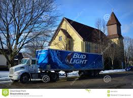Bud Light Beer Truck Parked By A Church Editorial Stock Image ...