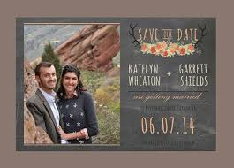 Rustic Antler Wedding Save The Date Barn By EllaVine