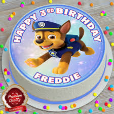 details zu paw patrol birthday personalised 7 5 inch edible cake topper c 441