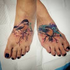 Matching Love Bird Tattoos Photo 2