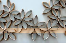 View In Gallery DIY Paper Towel Roll Wall Art