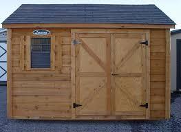6x8 Wooden Storage Shed by Cedar U0026 Split Log Storage Sheds Leonard Buildings U0026 Truck