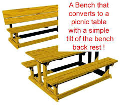 picnic table convert bench plans tag picnic table bench plans
