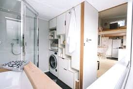 Toilet Tiny House On Wheels With Washer And Dryer