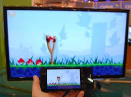 Smartphone and TV connected wirelessly