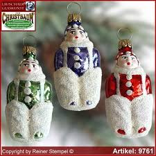 Christmas Tree Ornaments Snow Child Glass Figure Shape Collectible Lauscha Art R