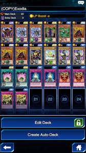 yu gi oh duel links exodia deck recipe best cards to unleash