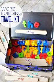word building activity travel kit word building long car rides