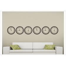 wohnzimmer uhr vintage zeit clock time 6x uhr aufkleber dekor wandtattoo wandaufkleber der dekor aufkleber shop