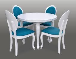 klassischer rund runder tisch holz design esszimmer tische 4 stühle konferenz