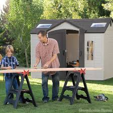 Lifetime Products Gable Storage Shed 7x7 by Lifetime 10x8 Plastic Shed Greenhouse Stores