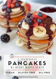 Easy Vegan Pumpkin Pancake Recipe by Healthy 3 Ingredient Vegan Pancakes Gluten U0026 Oil Free