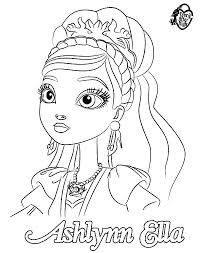 Ever After High Ashlyn Ella Coloring Pages