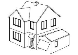 Opening Garage Houses Coloring Page