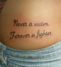 Never A Victim Forever Fighter