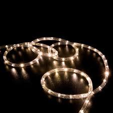 100 Warm White LED Rope Light Home Outdoor Christmas Lighting