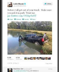 Ooops… Luke Bryan Crashes His Truck