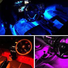 4in1 Car Interior Decorative Light 12 LED Atmosphere Blue Lamp ...