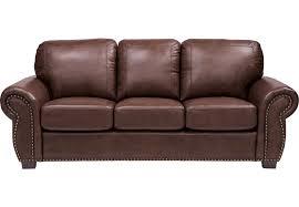 Balencia Dark Brown Leather Sofa Leather Sofas Brown