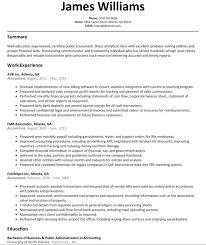Accounting Resume Samples Cpa Format Medium Size