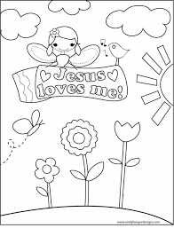 Amazing Chic Jesus Loves Me Printable Coloring Pages For Kids With