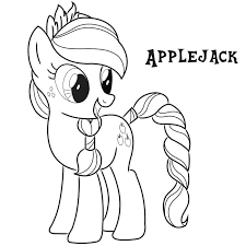 My Little Pony Coloring Pages Applejack And Rainbow Dash Free