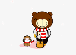 Papa Bear And Cubs Two Bears PNG Image Clipart