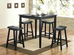 5pc Black Pub Dining Set Table And Chairs With Bench 150291n Room