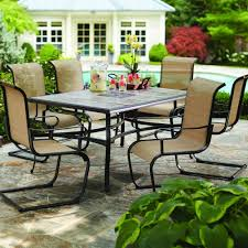 Martha Stewart Patio Sets Canada by Hampton Bay Belleville Outdoor Decorative 7 Piece Patio Dining Set